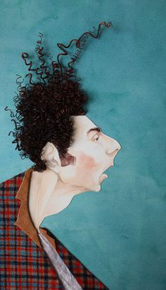 distorting shape but maintaining structure of the face Kramer by Lina Hsiao (qué bueno!!!) > Seinfield Kramer Funny Tv