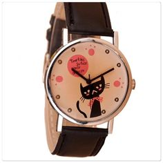 🎁BUY 1 GET 1 FREE - Cat faux leather watch Cute faux leather cat watch. Brand new. Jewelry
