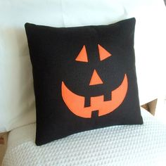 halloween decor pillows | Feature Friday: Handmade Halloween Decor — Mommyality