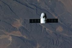 Dragon in orbit above sub-Saharan Africa  After some issues with its thrusters that occurred in the hours after launch, the SpaceX Dragon capsule successfully docked with the International Space Station. NASA reported that the capsule attached to the Harmony module of the ISS at 8:56am ETSunday morn