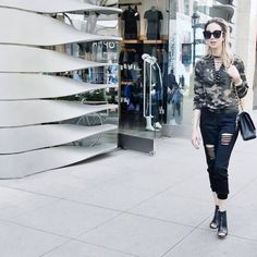 #FashionConfessions: The military trend is rapidly taking over the streets ! Exploring LA... www.iheartmarina.com #marinaberberyan