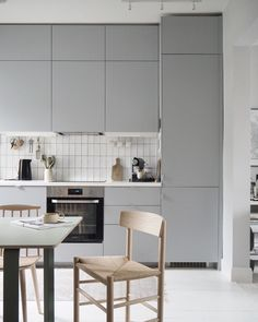 about - Grey IKEA kitchen with Veddinge cupboards. My top ten tips for getting into interior design and sty - Grey Ikea Kitchen, Grey Kitchen Floor, Grey Kitchens, Luxury Kitchens, Living Room Kitchen, Kitchen Flooring, Cool Kitchens, Kitchen Decor, Kitchen Ideas