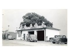 1941-Pure-Oil-Gas-Station-Photo-Poster-Greer-SC-Gas-Globe-Coca-Cola-zch2620