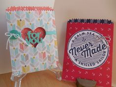 Stampin' Up! fabulous new Mini Treat Bag Thinlits Die! So many choices here!