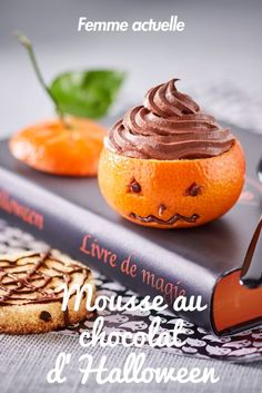 Halloween chocolate mousse: discover the cooking recipes of Femme Actuelle Le MAG - - Halloween Desserts, Halloween Party Snacks, Halloween Dinner, Halloween Foods, Fall Dessert Recipes, Easy Cake Recipes, Fall Recipes, Chocolat Halloween, Halloween Chocolate