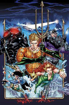 """AQUAMAN 1.2 Actor político: """"Como líder de una potencia mundial"""", dice el escritor Dan Abnett, """"Arthur cree que es hora de Atlantis se convirtió en parte de la comunidad mundial.  Atlantis ha estado en el exterior durante demasiado tiempo: temido, misterioso y mal entendido.  Pero eso significa hacer que el mundo se utiliza para Atlantis ... y viceversa"""