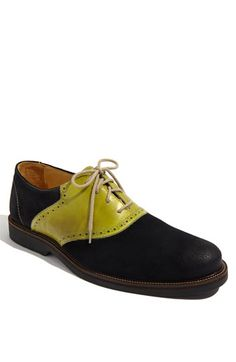 Dont ask, just BUY lol    The jaunty style of a classic saddle shoe is updated with a suede and nubuck upper grounded by a durable rubber sole.