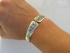 Spoon Bracelet Large Silver Belle by dankartistry on Etsy, $25.00
