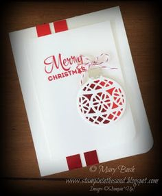 Stampin' in the Sand: Card: Red Foil Delicate Ornament for Christmas