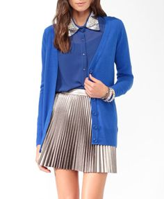 Solid Boyfriend Cardigan from Forever 21 [only $15!]