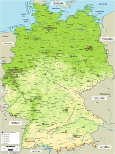 germany large color map germany switzerland austria trip planning 2014 pinterest switzerland austria and destinations