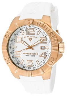 Swiss Legend Super Shield White Silicone and Dial Rose-Tone CaseSwiss Legend Watch Casual Watches, Watches For Men, Loyal Customer, Shopping Websites, Michael Kors Watch, Gold Watch, Rose Gold, Mens Fashion, Stuff To Buy