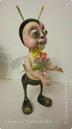 Игрушка Папье-маше Пчеленок Бумага фото 2