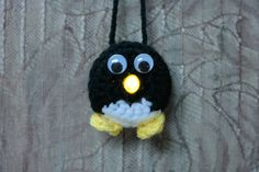 Lighted Penguin Ornament - Free Pattern