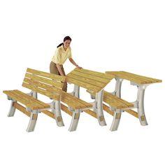 2x4 Basics FlipTop Garden Bench Table Kit