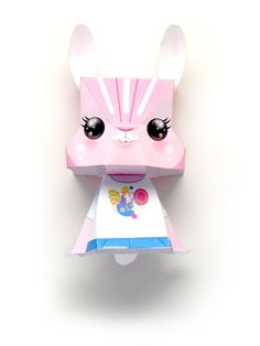 """Free Printables: """"Nodders"""" Rabbit, kitten and dog paper toys that 'nod' - aka Kawaii for Truckers :D"""
