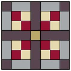 The Stone Tiles patchwork quilt block pattern has endless design possibilities. Easy enough for a beginning quilter, this quilt block design changes appearance based on placement of dark, light, and medium value fabrics. Barn Quilt Designs, Barn Quilt Patterns, Pattern Blocks, Quilting Designs, Mccall's Quilting, Charm Quilt, Sewing Art, Barn Quilts, Quilting Tutorials
