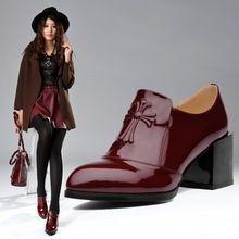 envío libre grande del tamaño 33-42 de la nueva mujer 2014 zapatos de plataforma zapatos oxford de cuero mujer punta cuadrada oxford zapatos de trabajo para las mujeres(China (Mainland))