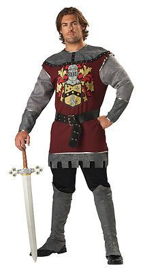 Noble Knight 2B Adult Mens Costume Medieval Shining Armor Theme Party Halloween