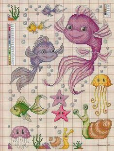 ru / Фото # 60 - Susanna& Books No. 7 of March 2016 - .ru / Фото # 60 – Susanna& Books N ° March 2016 – Chispitas - Cross Stitch Sea, Cross Stitch For Kids, Simple Cross Stitch, Cross Stitch Animals, Cross Stitch Charts, Disney Cross Stitch Patterns, Cross Stitch Designs, Cross Stitching, Cross Stitch Embroidery