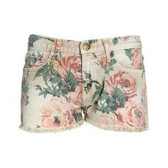 Current Elliott - Multi flower printed denim shorts - multi - YouHeShe.com