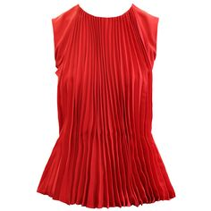 MAISON MARTIN MARGIELA Red Fan Top ($1,030) ❤ liked on Polyvore