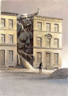 François Schuiten (Belgian, b. 1956, Brussels, Belgium) - Illustration from Les Mers Perdues by Jacques Abeille (Les Cités Obscures aka The Obscure Cities aka Cities of the Fantastic