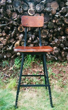 West Furniture Revival: VINTAGE INDUSTRIAL STOOL BEFORE AND AFTER!