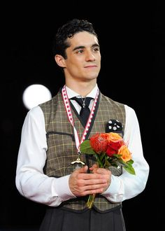 Javier Fernandez with his first ever GOLD grand prix medal!!! Skate Canada 2012