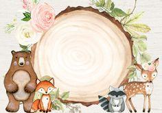Woodland Animals Theme, Safari Theme, Baby Clip Art, Baby Art, Animal Symbolism, Woodland Party, Baby Boy Shower, Cute Drawings, Altered Art