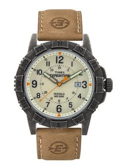 Timex Men's Quartz Watch with Yellow Dial Analogue Display and Brown Leather Strap TWSA08100
