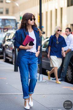 New York Fashion Week SS 2016 Street Style: Miroslava Duma