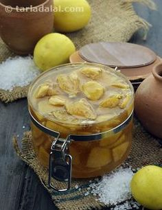 Sweet Lemon Pickle, Nimboo ka Achar, No Oil Lemon Pickle recipe   Lemon Pickle Recipes   by Tarla Dalal   Tarladalal.com   #3420