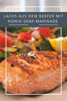 It doesn& always have to be steak: try salmon from the be . - It doesn& always have to be steak: try salmon from the beefer – for example with honey-must - Baked Chicken Marinade, Grilled Chicken Burgers, Meat Marinade, Chicken Marinades, Barbecue Sauce Recipes, Steak Recipes, Salmon Recipes, Dijon Mustard Chicken, Honey Mustard Sauce
