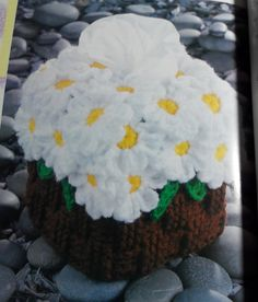 BASKET OF DAISIES Tissue Topper - Crochet Pattern. $2.50, via Etsy. ***Except SUNFLOWERS!!!***