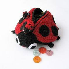 Lola The Ladybird - Amigurumi Coin Purse Pattern. $5.00, via Etsy.