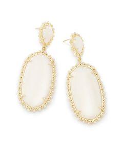 Parsons Statement Earrings In White Pearl - Kendra Scott Jewelry