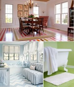 4 Quick Tips For Painting Hardwood Floors...Great site filled with information if you are considering painting an old hardwood floor. Idea for my bedroom floor!