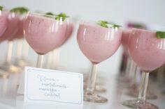 Wild Rose-Almond Milk-Strawberry Cocktail
