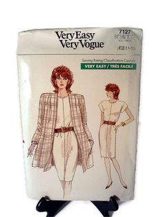 Vogue Pattern 7127 Couture Career Dress and by WeeLambieVintage, $10.00