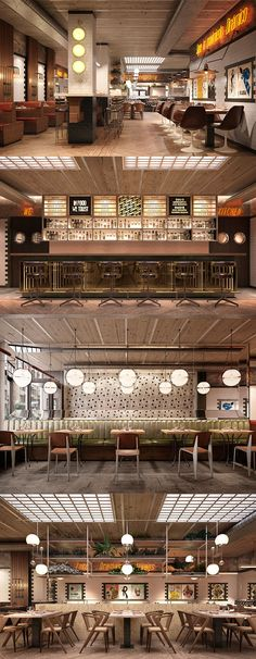 El dinámico Restaurant Interior Design, Commercial Interior Design, Shop Interior Design, Cafe Design, Industrial Restaurant, Restaurant Lighting, Bar Deco, Cafe Bistro, Hospitality Design