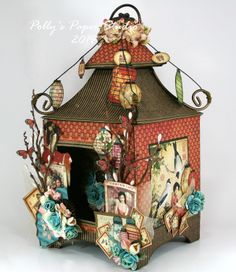 Bird Song Asian Pagoda Lantern Mini Album---click on it---photos of this project are amazing!!