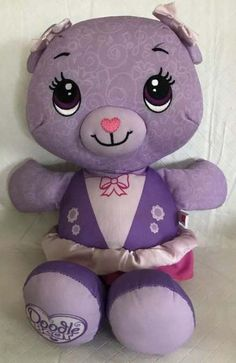 DOODLE BEAR Purple Washable Stuffed Animal Doll Draw Plush Play Along. Doll Patterns Free, Doll Dress Patterns, Doll Hair Repair, Doodle Bear, Doll Repaint Tutorial, Doll Drawing, Doll Tattoo, Doll Clothes Barbie, Diy For Girls