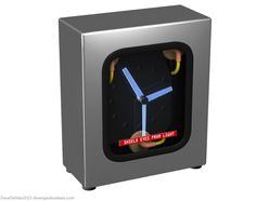 Flux Capacitor Clock by Dave's Geeky Ideas