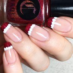 Santa French manicure