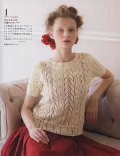 Let's Knit Series Couture Knit Spr Sum 6 Knit Patterns, Crochet Pattern, Knit Crochet, Stitch Patterns, Free Pattern, Japanese Crochet, Knit Shorts, Knitting Designs, Summer Tops