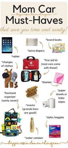 Mom Car Must-Haves That Save You Time & Sanity! - HappinessinHomemaking.com