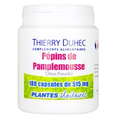 Pépins de Pamplemousse - Thierry Duhec La boutique de Compléments Alimentaires