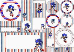 Oh My Fiesta! Hedgehog Birthday, Sonic Birthday, Candy Table Decorations, Sonic Party, Candy Bar Labels, Oh My Fiesta, Party Themes, Party Ideas, Free Printables