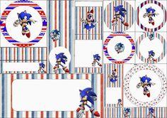Sonic: Etiquetas Candy Bar para Imprimir Gratis.: